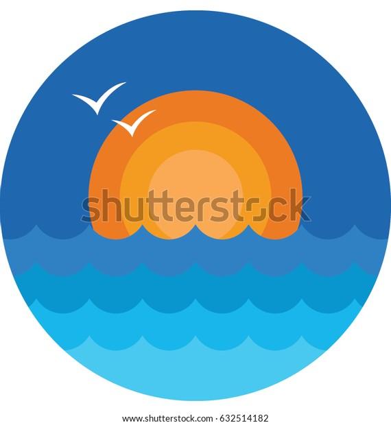 Sunrise Vector Icon