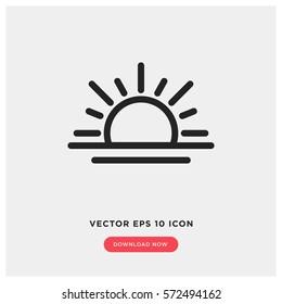 Sunrise vector icon, sunset symbol. Modern, simple flat vector illustration for web site or mobile app