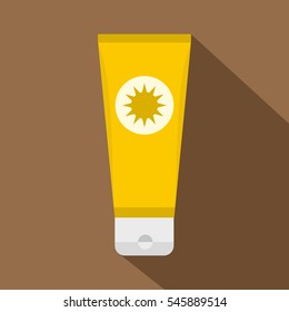 Sunscreen icon. Flat illustration of sunscreen vector icon for web