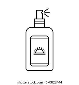 Sunscreen icon. Outline illustration of sunscreen vector icon. line art sunscreen spray
