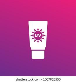 sunscreen, sunblock lotion icon