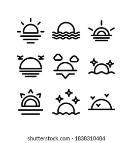 sunset icon or logo isolated sign symbol vector illustration - Collection of high quality black style vector icons