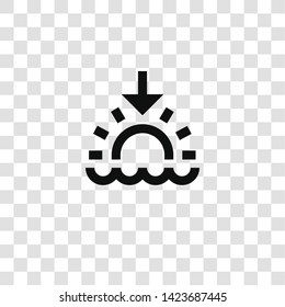 sunset icon from miscellaneous collection for mobile concept and web apps icon. Transparent outline, thin line sunset icon for website design and mobile, app development