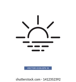 sunset icon vector illustration template