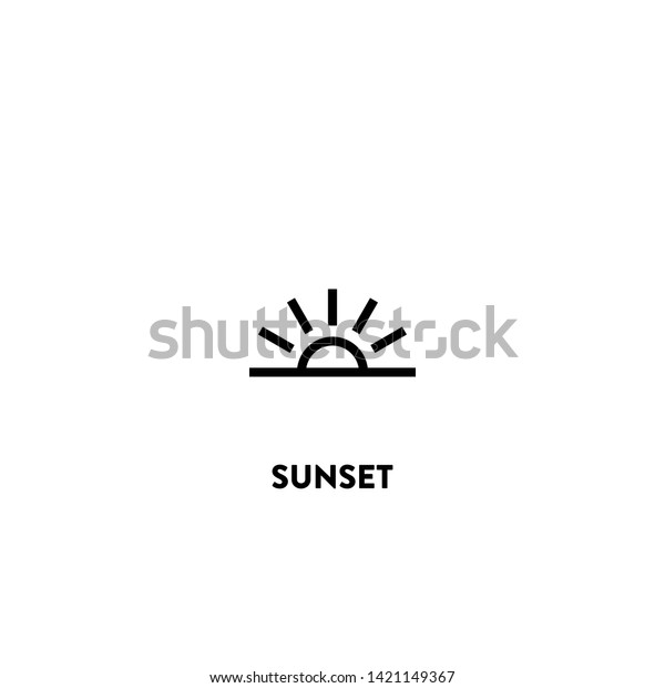 sunset icon vector sunset sign on stock vector royalty free 1421149367 shutterstock