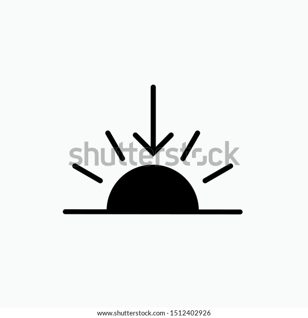 sunset icon vector sign symbol design stock vector royalty free 1512402926 shutterstock