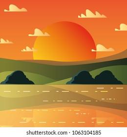 Sunset landscape design