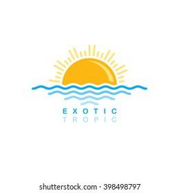 sunset logo sign