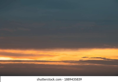 sunset over the sea in nature