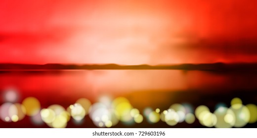 sunset sky vector background