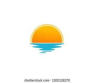 Sunset sun logo