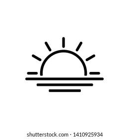 sunset or sunrise icon vector illustration - Vector
