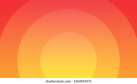 Sunset vector illustration, EPS10, Orange Background - Wonderful wallpaper for decoration of hot Actions, Ads and Travel offers to Southern countries Travel.