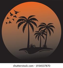 Sunshine time vector by illustration