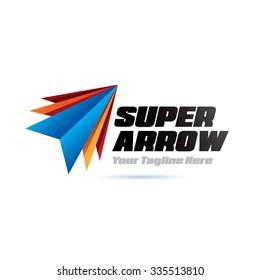 Super Arrows Icon Logo Element