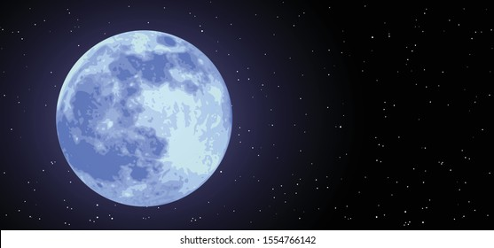Super blue new moon Night starry sky half full waxing moon Equinox planet Earth day Earth's Waning Crescent Gibbous means Vector Moonlight evening astrology symbol icon icons sign Phases Solar eclipse