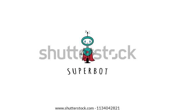 Super bot vector image
