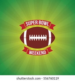 Super Bowl Weekend Party Vector Illustration