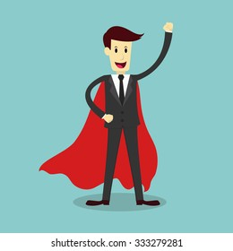 Super businessman, business concept, vector illustration