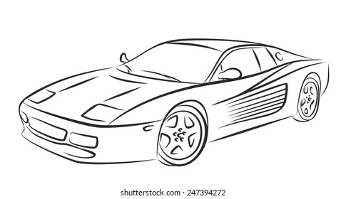 Sketch Sports Cars Vector Stock Vectors Images Vector Art
