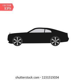 Super car design concept. Unique modern realistic art. Generic luxury automobile. Car presentation side view eps10