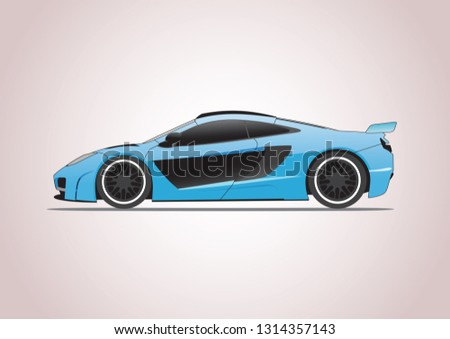 super car side view