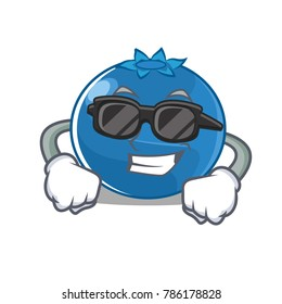 Super cool blueberry character cartoon style