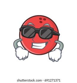 Super cool bowling ball character cartoon