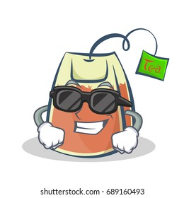 Super cool tea bag character cartoon