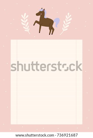 Super Cute Blank Paper Notes Planners Stock Vector Royalty Free