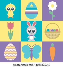 Super cute Easter icons for any design project.