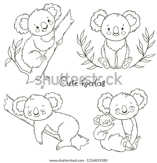Coloring Pages Of Koala Bears - Coloring Home | 620x600