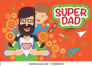 Super dad design,clean vector