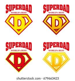 Super Dad hero Logo Supehero Letters