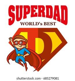 Super Dad hero Logo Superhero Letters Father day Vector