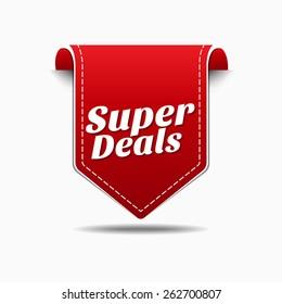 Super Deals Red Vector Icon Design