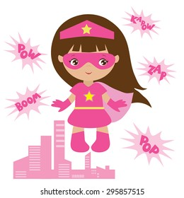 Super girl vector illustration