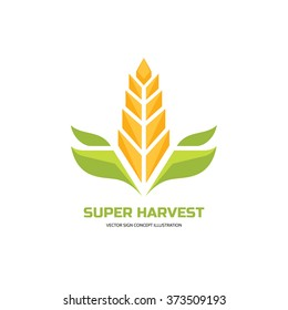 corn logo images stock photos vectors shutterstock https www shutterstock com image vector super harvest vector logo template cereal 373509193