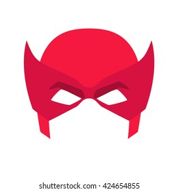 Super hero blue mask for face character in flat style. Heroic or savior vector illustration. Photo props.