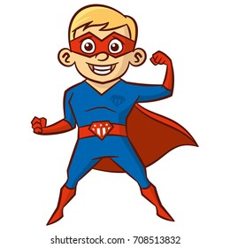 Super hero boy Cartoon character Isolated Vector illustration