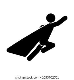 Super hero icon. Vector business hero symbol. Vector illustration