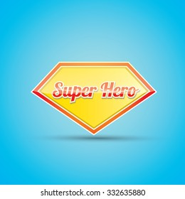 super hero label or sign. vector illustration