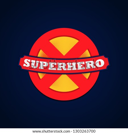 Super hero logo powerfull