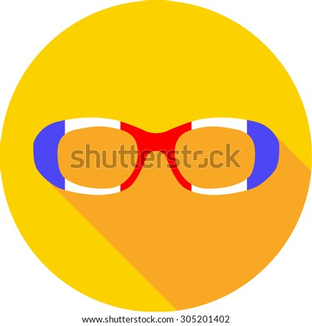 58a665b8eb9 Super hero mask glasses collection. Flat style avatar icon. Colorful vector  illustration eps 8. Man and women