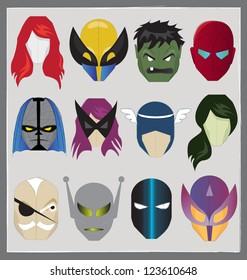 SUPER HERO MASK ICON. Editable vector illustration file.