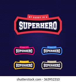 Super hero power full typography, t-shirt graphics, vectors