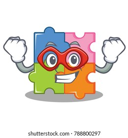 Super hero puzzle character cartoon style