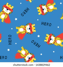 super hero tiger pattern design as vector for tee print