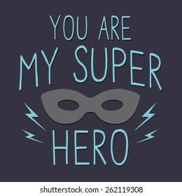 Super hero typography, t-shirt graphics, vectors