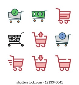 super icon set. vector set about shopping cart icons set.